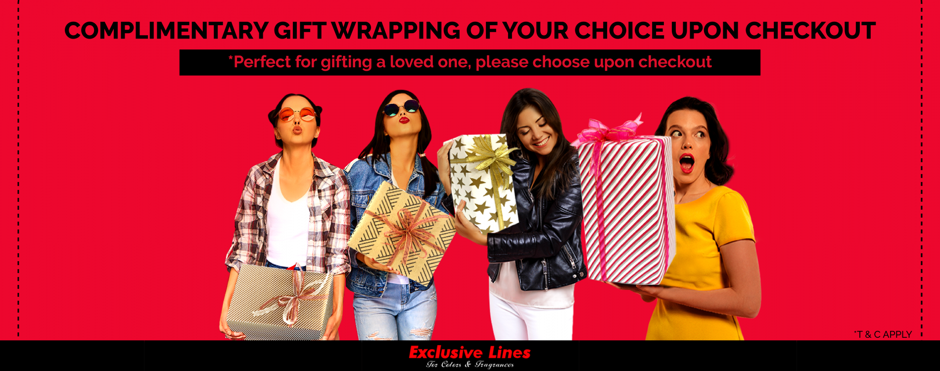 Website banner gift wrapping